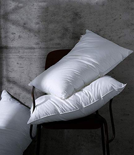 Coozii Pillows,Soft Comfortable,Queen 20 by 28 Inch, 85% Down 15% Feather Pillow,1200 Thread Count 100% Egyptian Cotton…