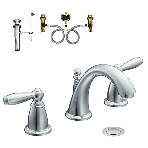 Moen KLBR-D-T6620CR Brantford Two-Handle High-Arc Lavatory Faucet, Chrome