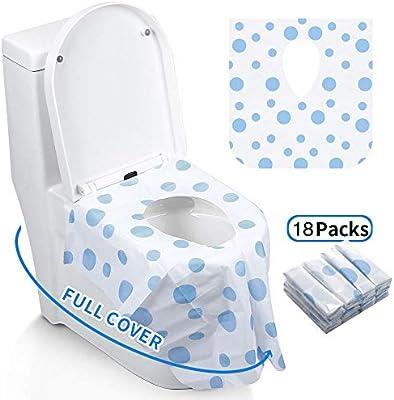 impermeables 24 unidades tama/ño de bolsillo individual port/átiles extragrandes Gimars- Cubiertas desechables para asiento de inodoro fundas para asiento de inodoro antibacterianas