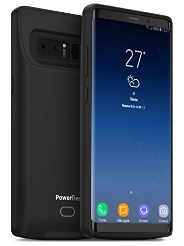 PowerBear Samsung Note 8 Battery Case [4500 mAh] Type-C Charger Case for Galaxy Note 8 (Up to 130% More Power) - Black [24 Month Warranty]