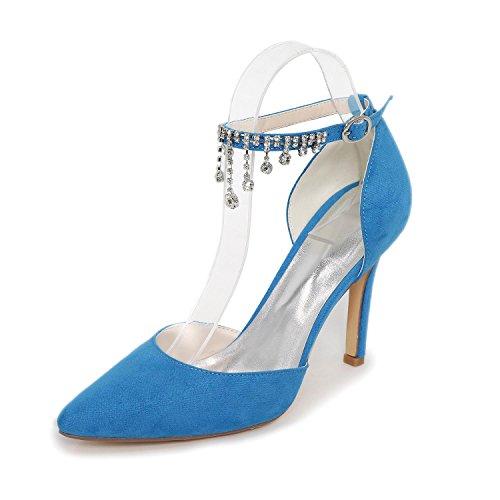 L@YC Damen Sandalen Frühjahr / Sommer / Herbst Sandalen Satin Hochzeit / Party & abend Blue