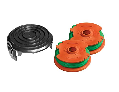 WORX (2 Pack) WA0014 Grass Trimmer and Edger Line for WG168, WG190 + WA0037 (1pack) WORX Replacement Grass Trimmer Spool Cap Cover for 40V & 56V Trimmers