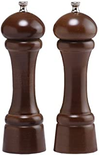 """product image for Chef Specialties 8"""" Windsor Pepper Mill and Salt Mill Set, Walnut"""