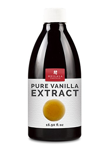 Pure Vanilla Extract for Baking - Gourmet, Organically Grown Hand-Picked Pods, No Sugar, No Chemicals, No Imitation or Synthetic Flavors, Keto Friendly, Superior to Madagascar & Tahitian (16.9 ()