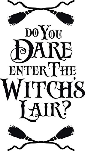 Family Connections Dare Enter The Witches LAIR ~ Black ~Indoor Halloween/Window / Wall/Craft Decal with Alcohol PAD~ Size 10.20