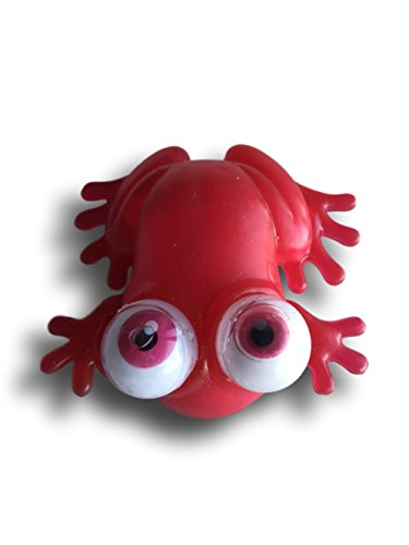 Warehouse 151 Squishy Stretchy Squeeze Stress Office Desk Toy (Frog, Red)