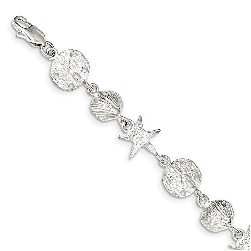 Sterling Silver Seashells Bracelet QA29-8