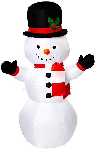 gemmy airblown inflatable snowman 4 by gemmy inflateables holiday - Christmas Outdoor Inflatable Decorations Clearance