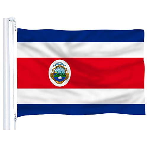 DFLIVE Costa Rica Flag 3x5 ft Printed Polyester Fly Costa Rican National Flag Banner with Brass Grommets