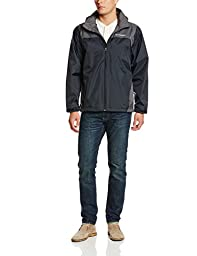 Columbia Men\'s Glennaker Lake Packable Rain Jacket, Black/Grill, Large