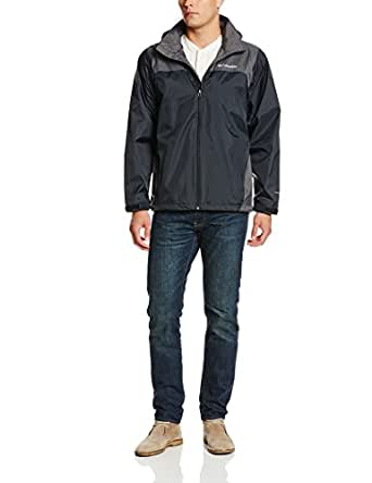 Columbia Men's Glennaker Lake Packable Rain Jacket, Black/Grill, Small