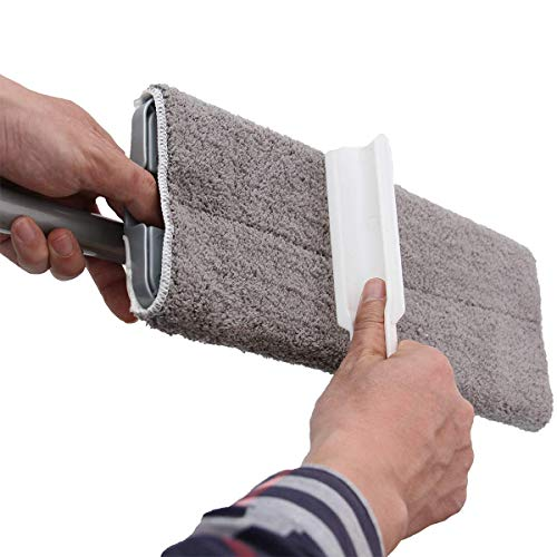 PICAD Microfiber Flat Mop Multi Slots Switch for Cleaning Hardwood and Floors, Includes: 1 Mop, 1 Dirt Removal Scrubber, 2 Pads Refills by PICAD (Image #4)