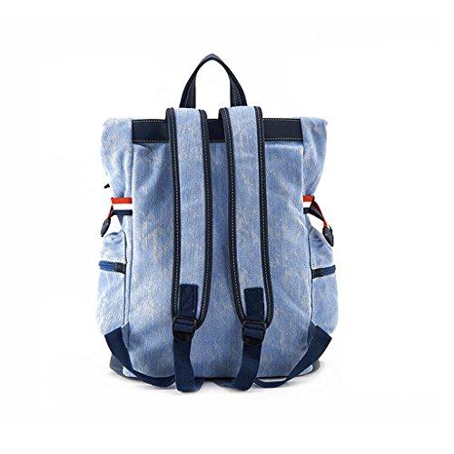 LWT - primavera e l'estate 2017 nuova sportiva borsa tracolla student travel denim (32 * 13 * 43 centimetri) (denim leggero blu)