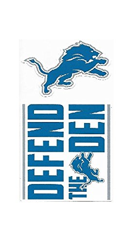 (NFL Detroit Lions Double Up Die Cut 2-Piece Sticker)