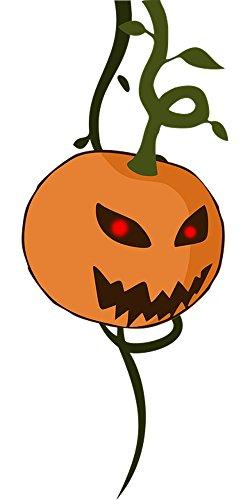 Quality Prints - Laminated 24x48 Vibrant Durable Photo Poster - Halloween Pumpkin Carving Nature Plant Monster Fear Devil Demon Evil]()