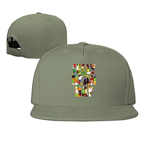 Happy National Jelly Bean Day Snapback Six-panel Hat ForestGreen