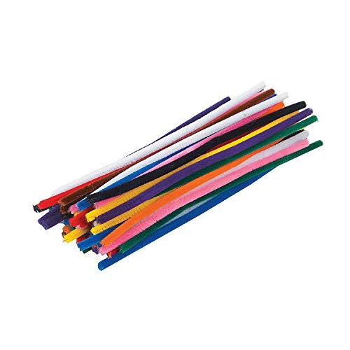 Fun Express - Giant Chenille Stem Classpack - 9mm - Craft Supplies - Bulk Craft Accessories - Chenille Stems - 200 Pieces