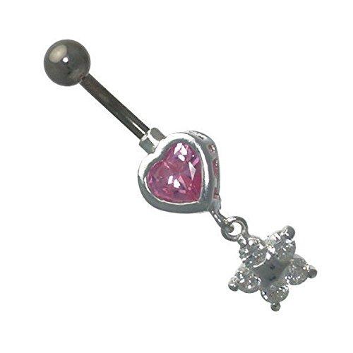 Kandi Pink Heart Crystal Star