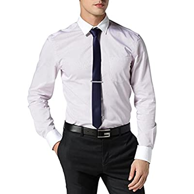 Tie Clips, Hugesavings 4Pcs Fashion Necktie Clips Tie Bar Clips Tie Pins Set Silver Tone