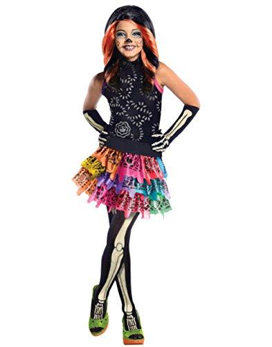 Childs Girls Monster High Skelita Calavera Costume And Wig Bundle Large 12-14 ()