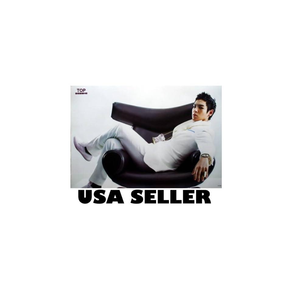 Bigbang frontman Top across chair POSTER 34 x 23.5 Korean boy band Big Bang T.O.P. (sent from USA in PVC pipe)