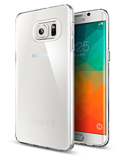 Spigen Liquid Crystal Galaxy S6 Edge Plus Case with Light but Durable Flexible Clear TPU Protection for Samsung Galaxy S6 Edge Plus (2015) - Crystal Clear