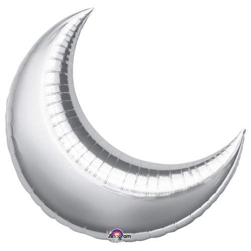 Anagram 16298 Crescent Moon - Silver Foil Balloon 26