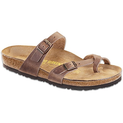Birkenstock Women's Mayari Tobacco Oiled Leather Sandal 38 (US Women's 7-7.5) by Birkenstock