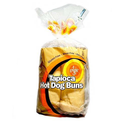 Ener-G Foods Tapioca Hot Dog Buns, 7.76-Ounce Units (Pack of 6)