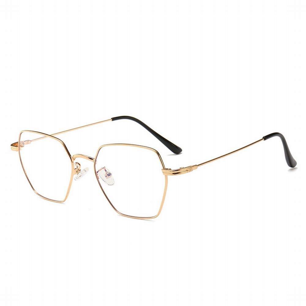 Oval Runde Gläser Schmal Metallrahmen Durchsichtige Linse Mode Brille