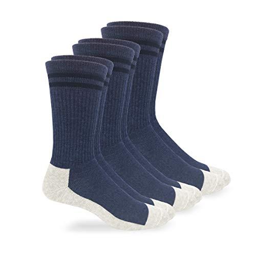 Jefferies Socks Unisex Postal Uniform Cushion Work Crew Socks 3 Pair Pack (L (10-13) Mens Shoe 9-12, Postal Blue)