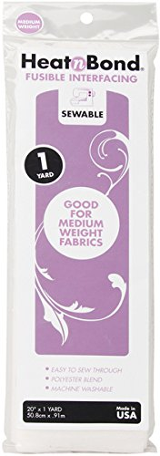 "Thermoweb Heat'n Bond Medium Weight Iron-On Fusible Interfacing-White 20""X36"""