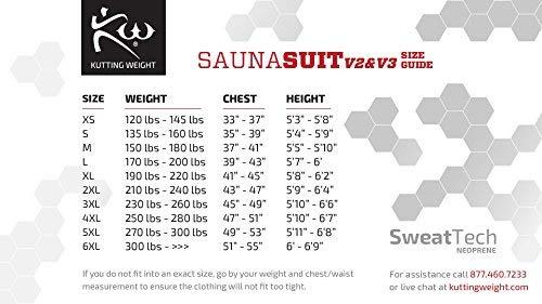 Kutting Weight Neoprene Weight Loss Men's & Women's Sauna Suit (Black, 4XL) by Kutting Weight (Image #3)