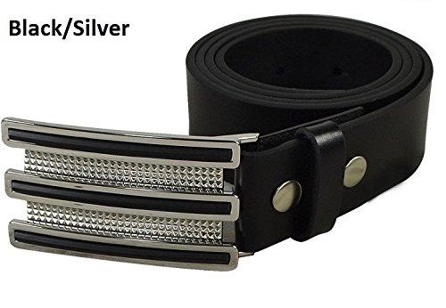 adidas Men's Trophy Belt, Black/Chrome, (Adidas Trophy Belt Buckle)