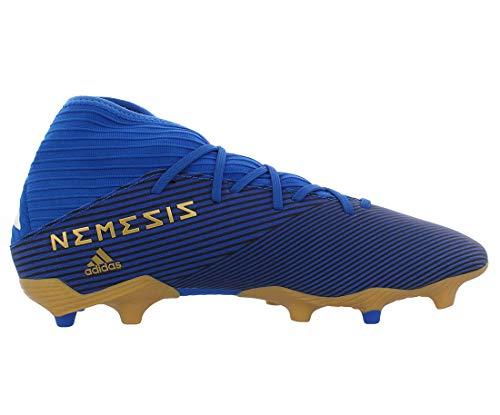 Adidas Mens Nemeziz 19.3 Fg Soccer Shoes Blue/White/Black 10 3