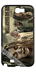 The Walking Dead pop horror TV series HD image case for Samsung Galaxy Note 2 N7100 black + Card Sticker