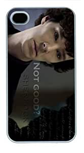 The sherlock movie case cover for iphone 4 4s pc white