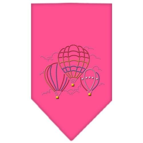Mirage Pet Products Hot Air Balloons Rhinestone Bandana, Small, Bright Pink