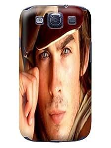 Steven L.Cummings Hot selling funny figure tpu skin back cover case for Samsung Galaxy s3 (Ian Somerhalder)