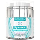 Retinol Cream Moisturizer for Face and Eye Area - With Retinol, Hyaluronic Acid, Vitamin E - Anti Aging Formula Reduces Wrinkles, Fine Lines - Best Day and Night Cream 1.7 Fl Oz