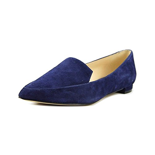 Nine West Frauen Abay Leder Loafers Blau Groesse 9 US/40 EU