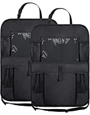 "WildAuto 2Pack Car Back Seat Organizer,Washable Multi Purpose Kick Mats Car Seat Back Protector,Multi-Pocket Storage for Toy/Bottles/Umbrella/10"" iPad"