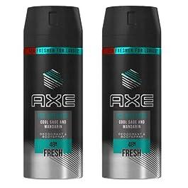 2 x Axe Ice Breaker Men's Deodorant Body Spray, 150ml (5.07 oz)