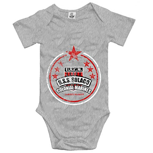 YSKHDBC USCM USS Sulaco Colonial Marines Cotton Unisex Baby Infant Short Sleeve Onesies Bodysuits