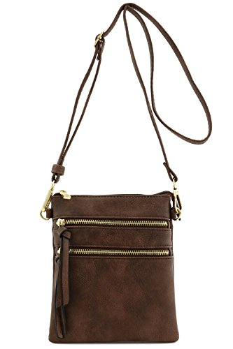 Functional Multi Pocket Crossbody Bag (Coffee)