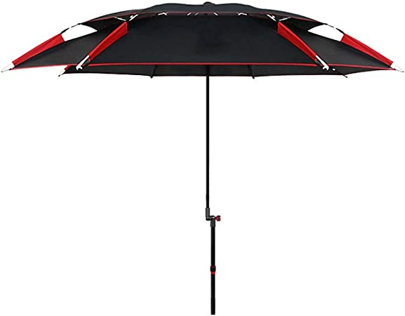 Xinxinchaoshi-Sombrillas Paraguas de Aluminio para jardín Paraguas para Pesca al Aire Libre Se Puede inclinar para Acampar en el jardín al Aire Libre (Negro) (Color : A): Amazon.es: Hogar