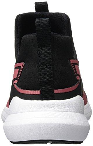 Puma Unisex-Kinder Rebel Mid Gleam Jr Hohe Sneaker Schwarz (Black-RAPTURE Rose)