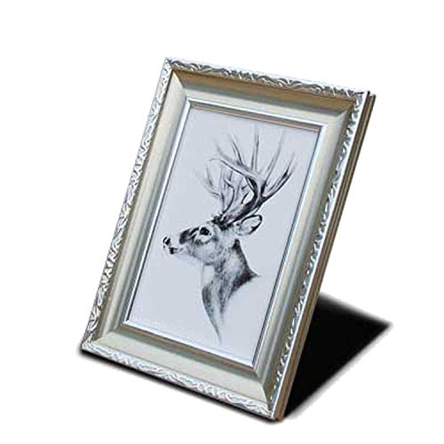 craft and down Photo Frame Wall Frame Friendly Environmental Resin Photo Frame Vintage Color Frame on Table Living Room Bedroom Home Decor,03,17.8x12.7cm ()