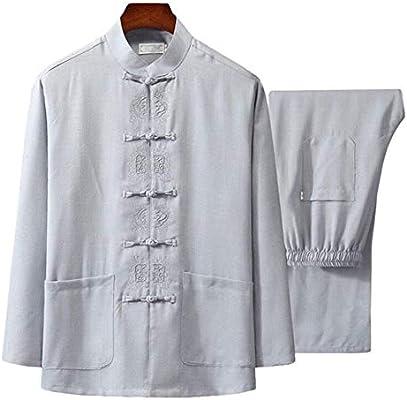 EEKUY Traje Chino Tang, Traje Tradicional Chino Tangzhuang Fitness Trajes Camisa Uniforme,L: Amazon.es: Deportes y aire libre
