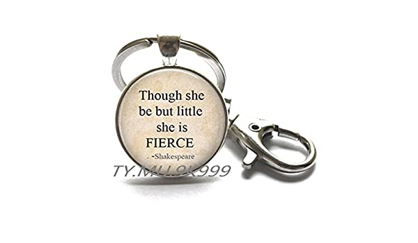 Inspire Locket Necklace Yao0dianxku Though She Be But Little She Is Fierce Locket Necklace Quote Gift Inspirational Locket Necklace-Simple Locket Necklace.Y088
